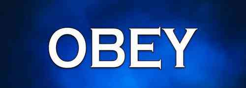 Who will you obey today?