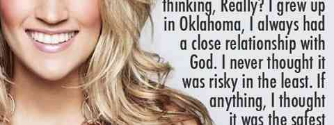 Carrie Underwood shares her love for Jesus