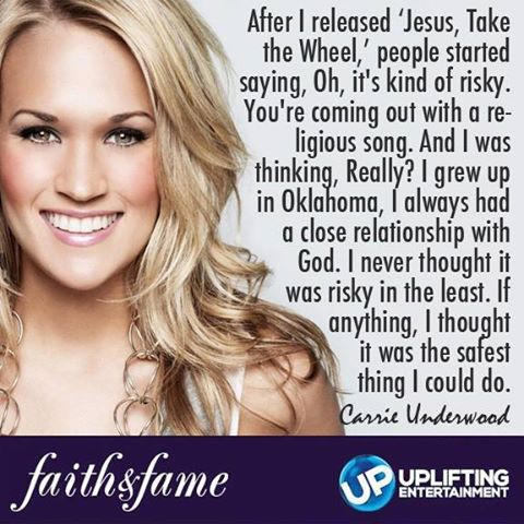 Carrie Underwood on her faith in Christ